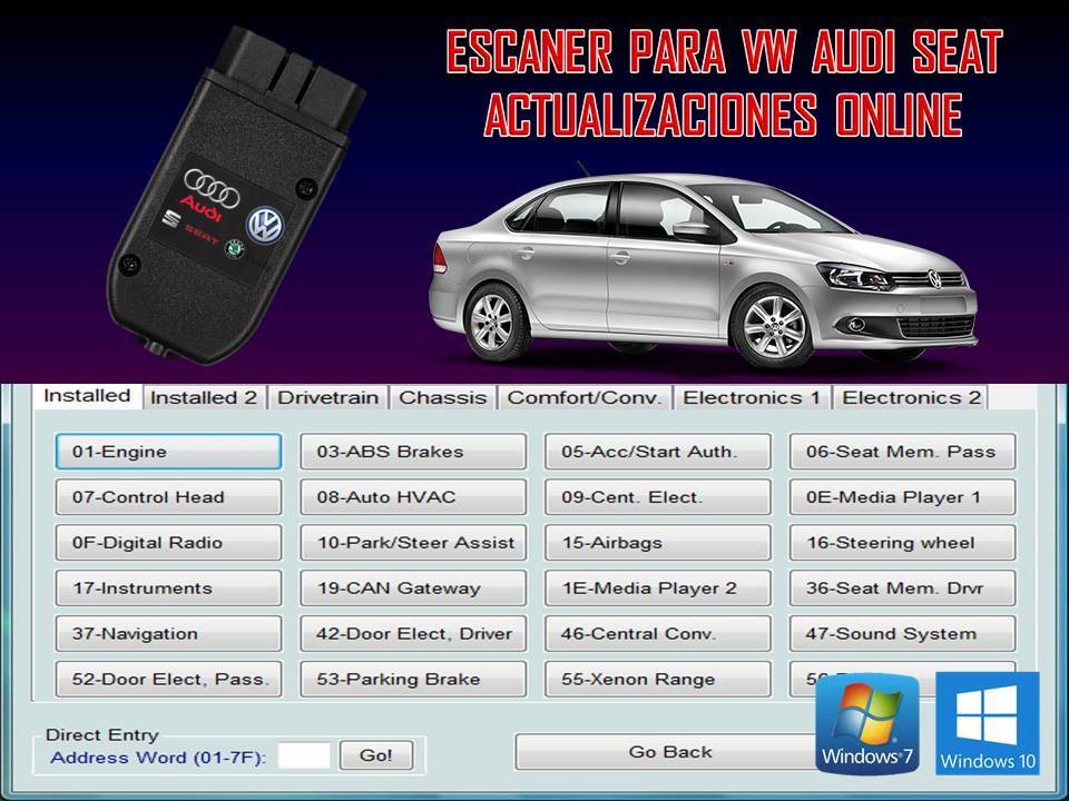 INTERFACE PARA VEHICULOS VW AUDI SEAT Version Actualizable en linea