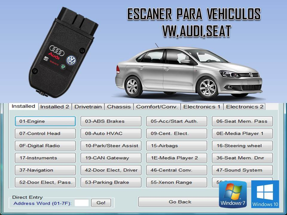 INTERFACE PARA VEHICULOS VW AUDI SEAT VAG